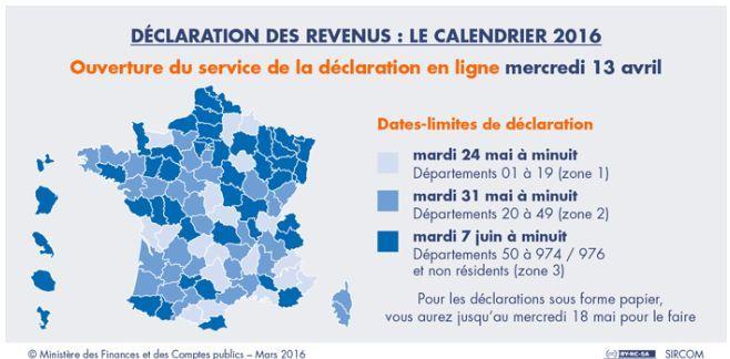 Les Dates De La Declaration De Revenus 2016 Pour Tous Les Departements