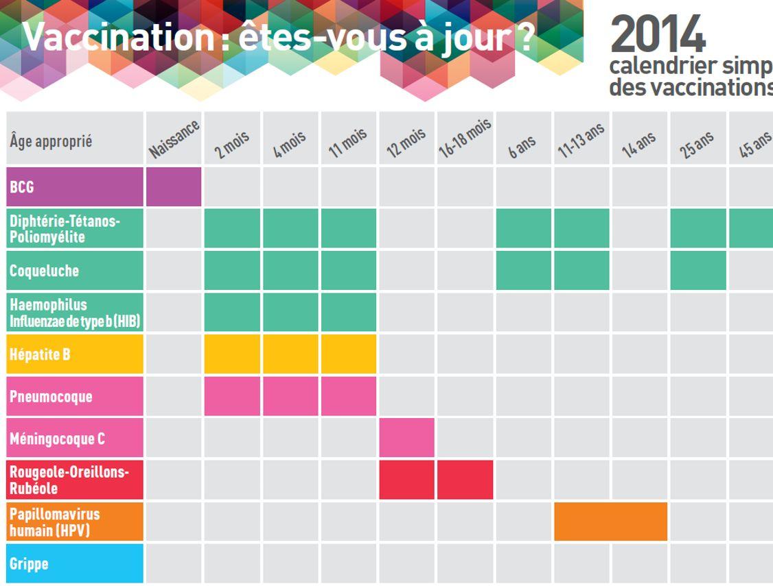 Vaccination Calendrier 2019.Le Calendrier Vaccinal 2014 Est Publie