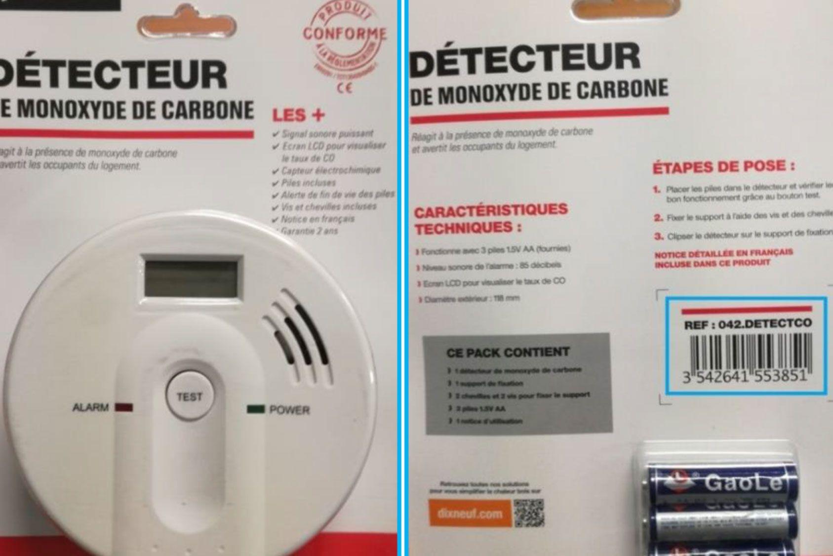 Des détecteurs de monoxyde de carbone défectueux sont retirés de la vente