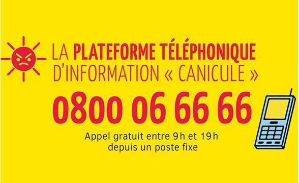 Fortes chaleurs: le téléphone Canicule info service est activé