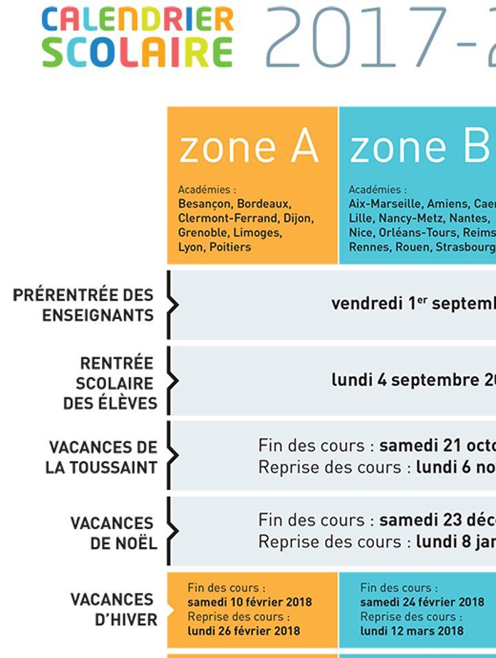 Calendrier Scolaire Bordeaux.Le Calendrier Des Vacances Scolaires 2018 Est Modifie Dans 5