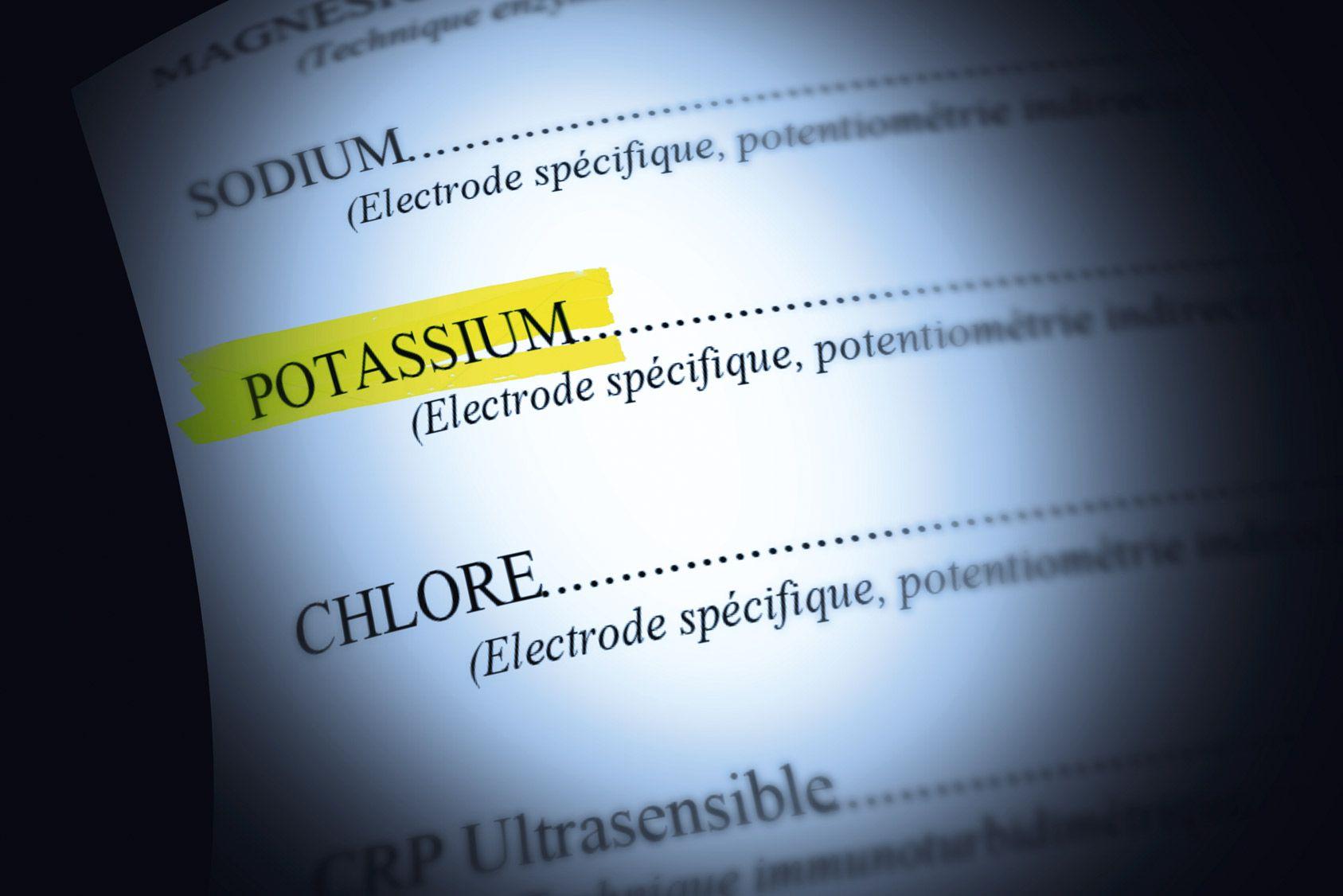 Analyses sanguines: le potassium
