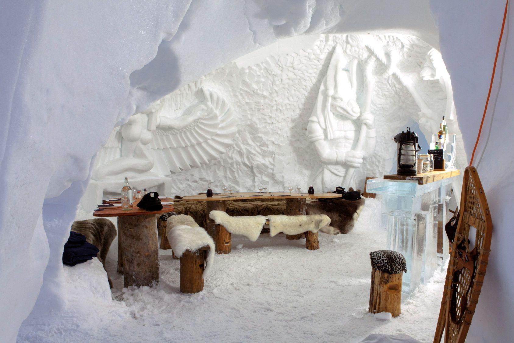 Une nuit dans un véritable igloo