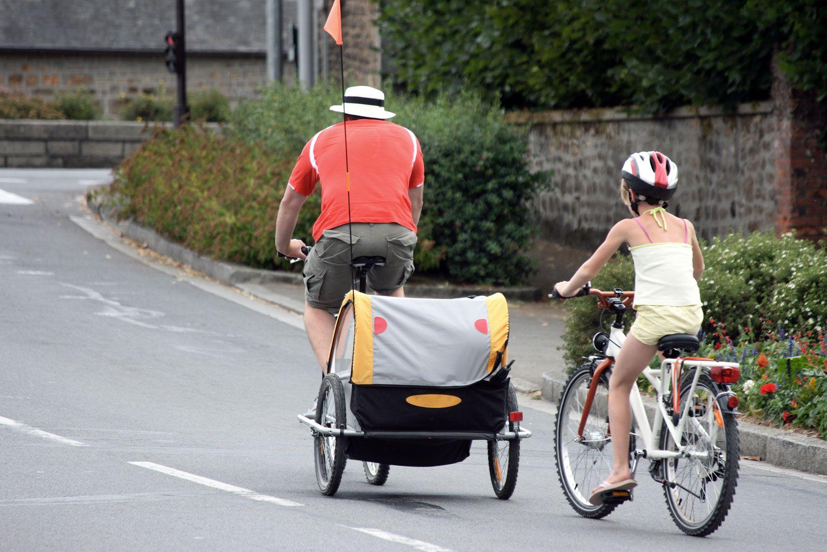 Transporter des enfants à vélo avant 9 mois est déconseillé