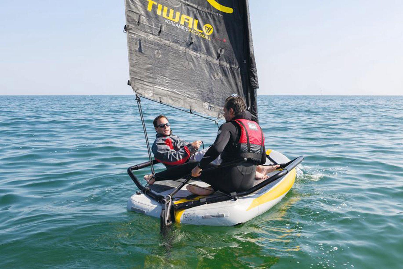 Un après-midi pour essayer un voilier gonflable