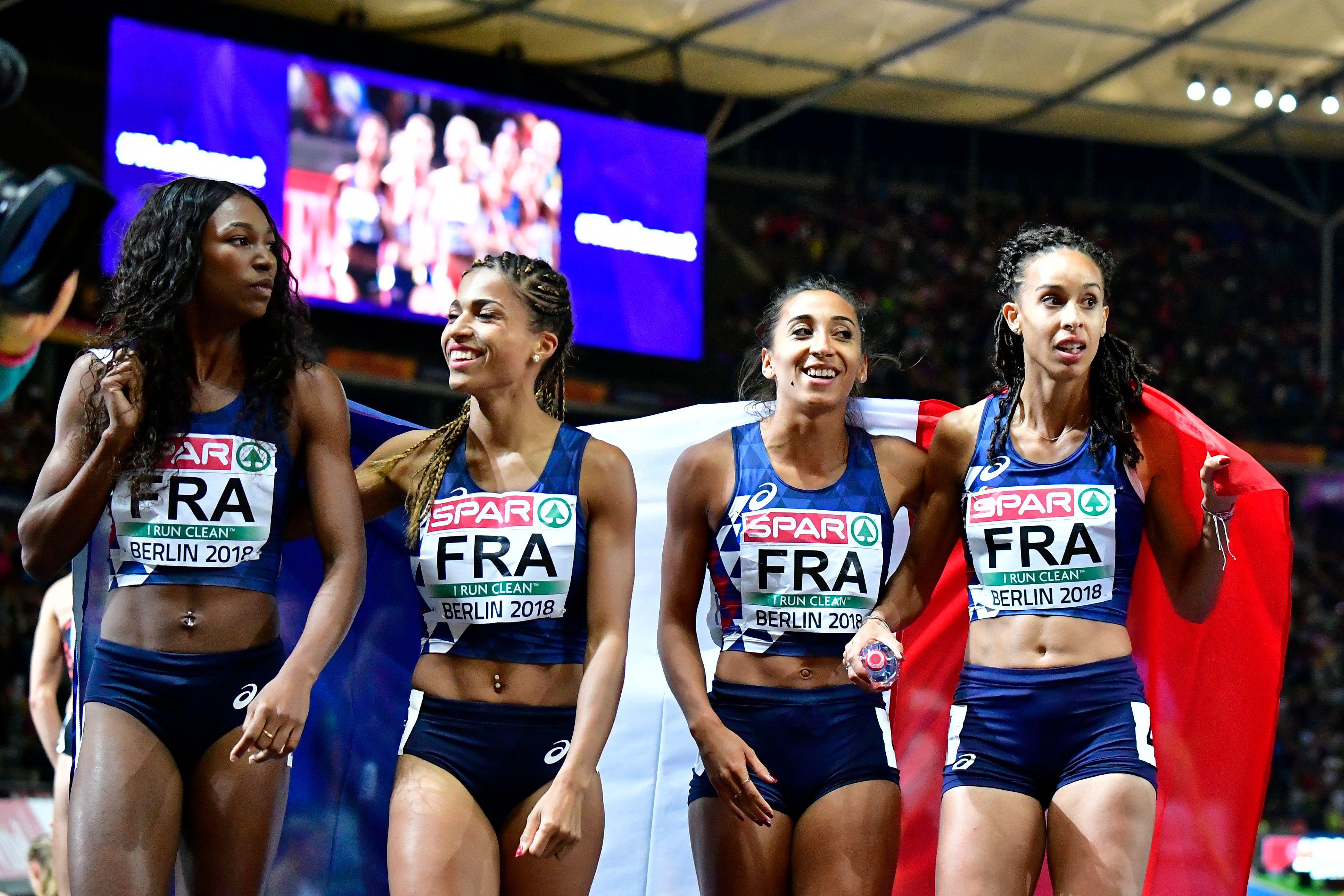 Athlétisme - Le relais 4x400m féminin en argent