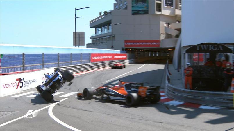 Auto/Moto - GP de Monaco : Jenson Button envoie dans les cordes Pascal Wehrlein (vidéo)