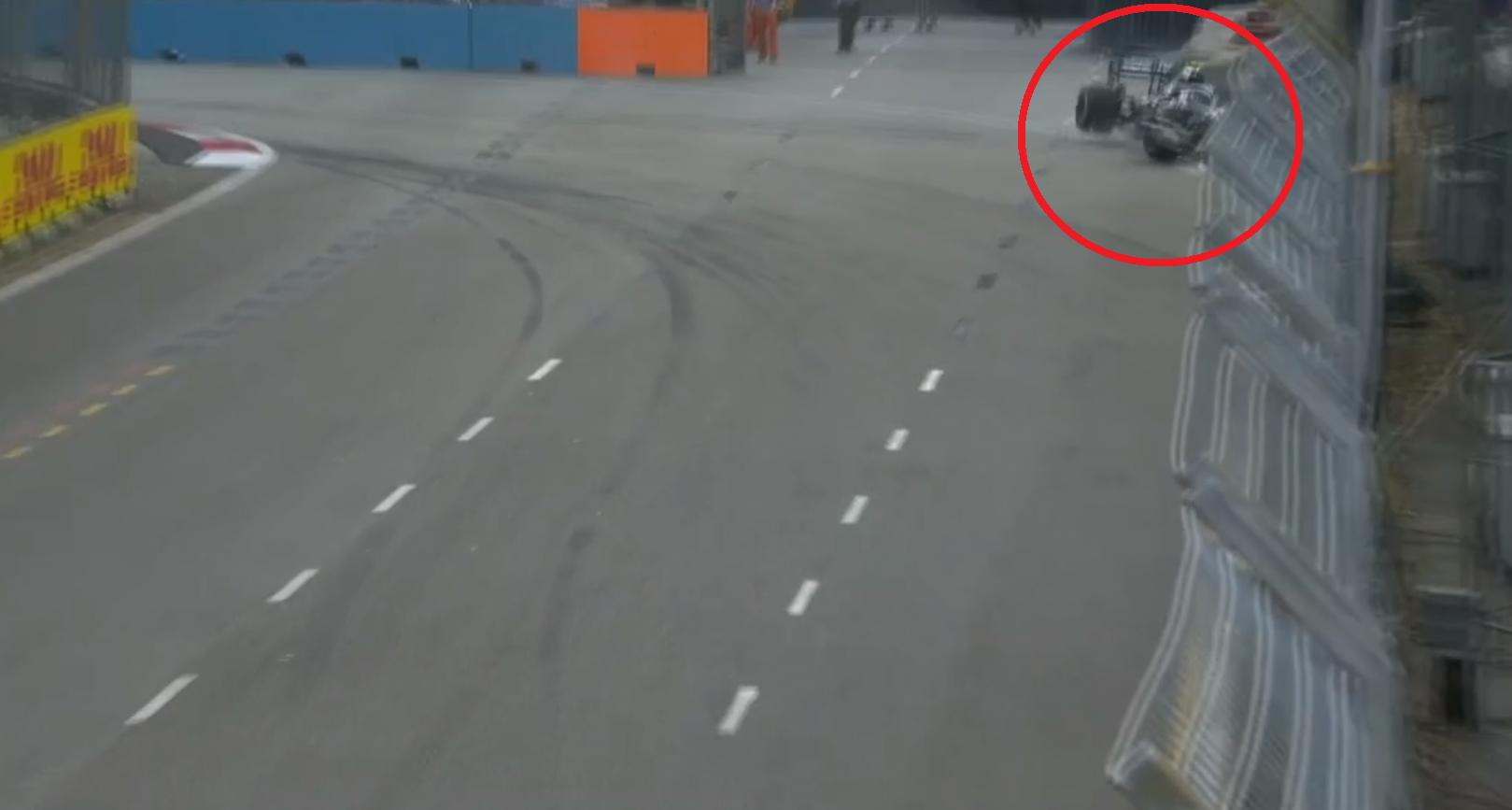 GP de Singapour : Bottas part dans le mur lors des essais libres
