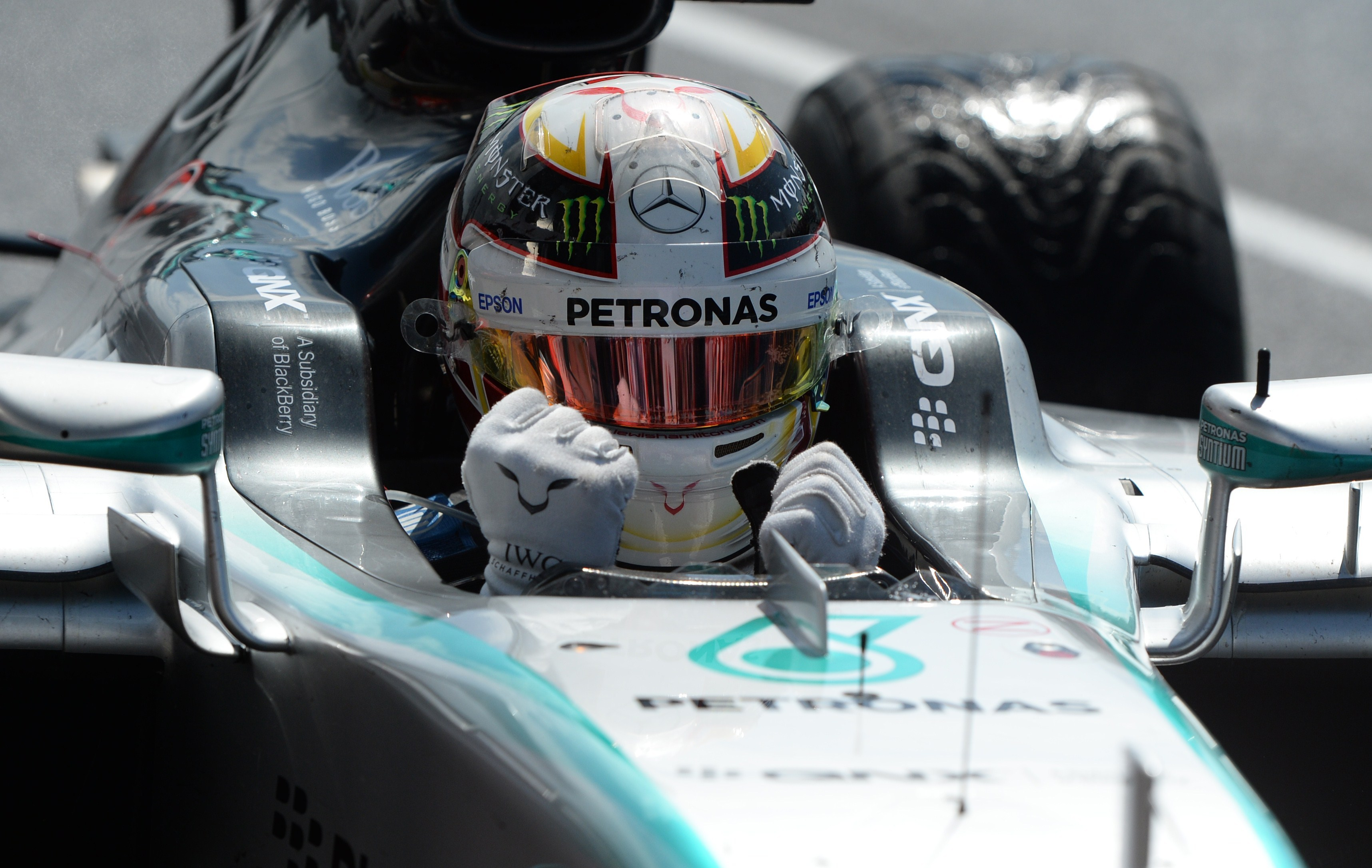 F1 - Hamilton, la f�te � la maison