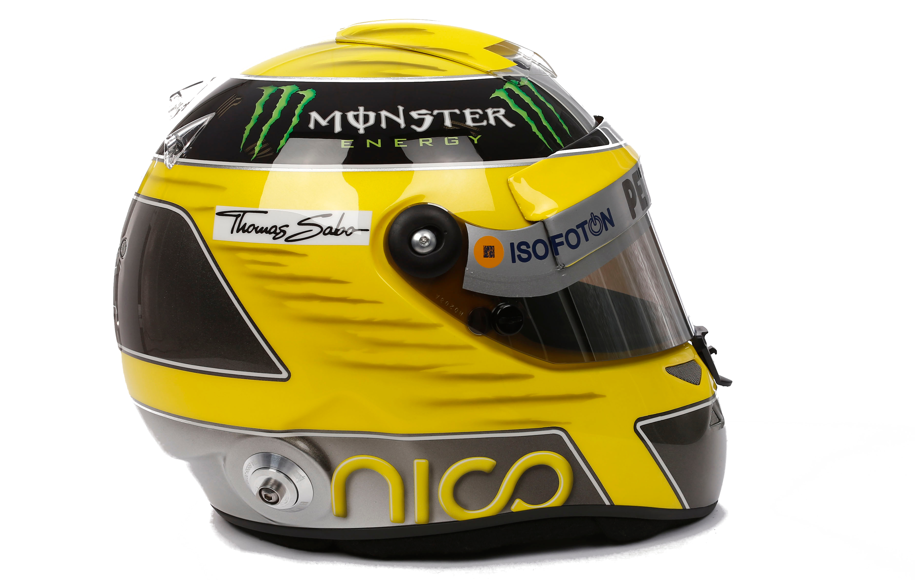 qui a vol le casque de nico rosberg formule 1 auto moto. Black Bedroom Furniture Sets. Home Design Ideas