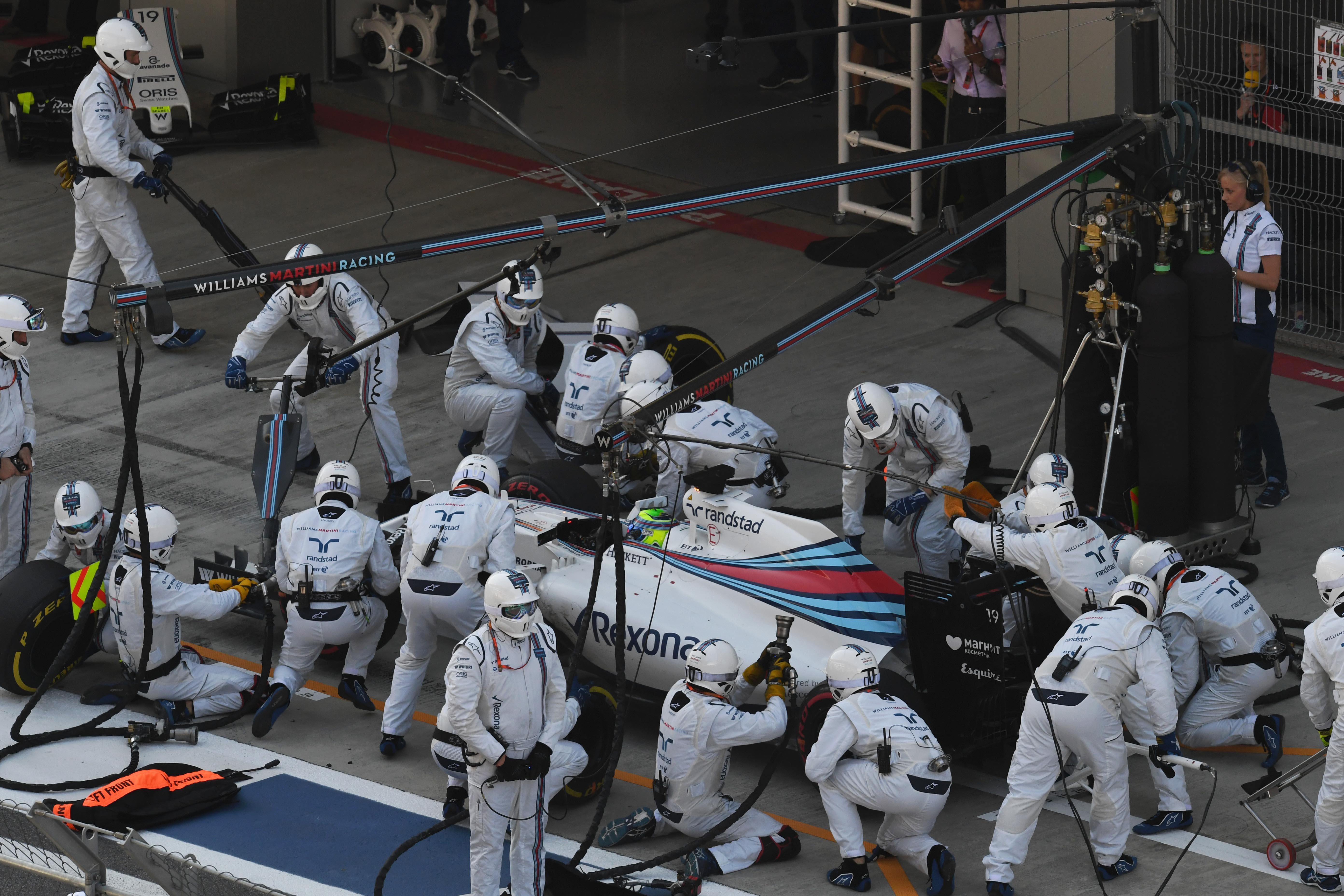 F1 - Un record de l'arr�t au stand le plus rapide en F1 pour Williams en? 1''92
