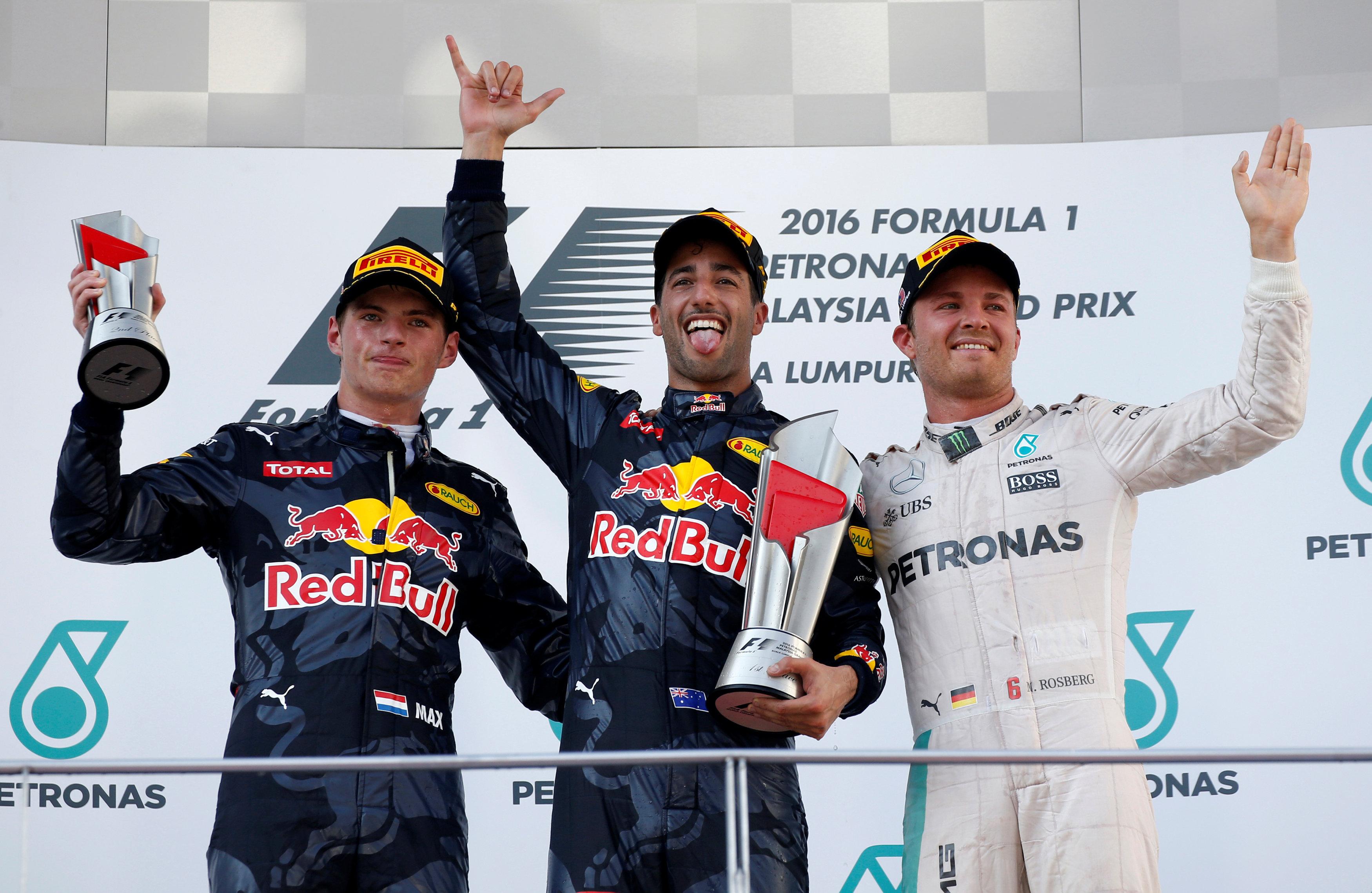 Auto/Moto - GP Malaisie: Ricciardo sourit, Rosberg engrange et Hamilton pleure