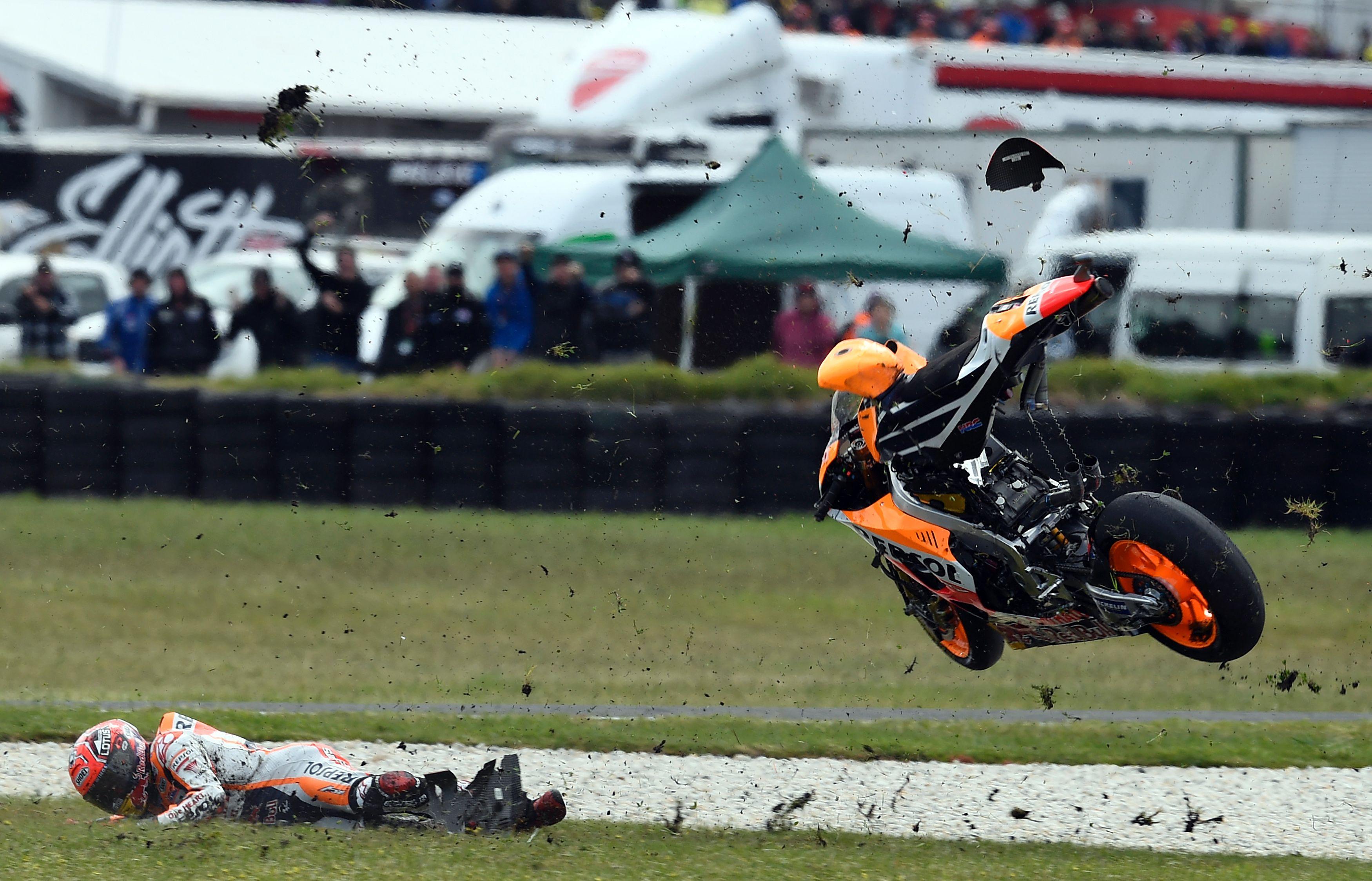 Auto/Moto - Crutchlow profite de la chute de Marquez pour s'imposer