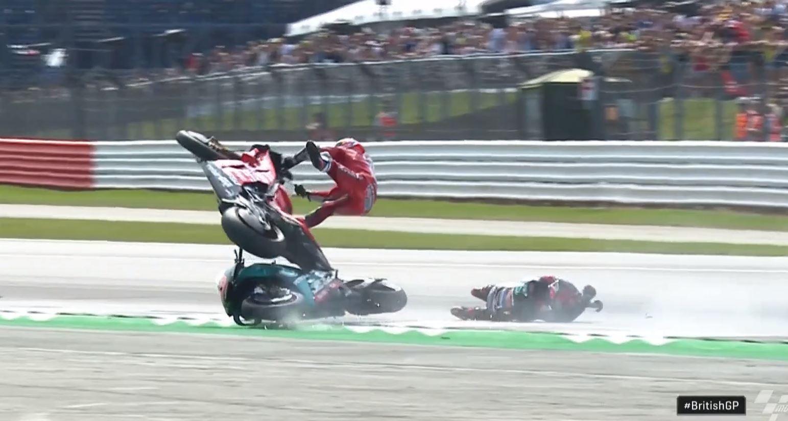 L'impressionnant crash entre Quartararo et Dovizioso
