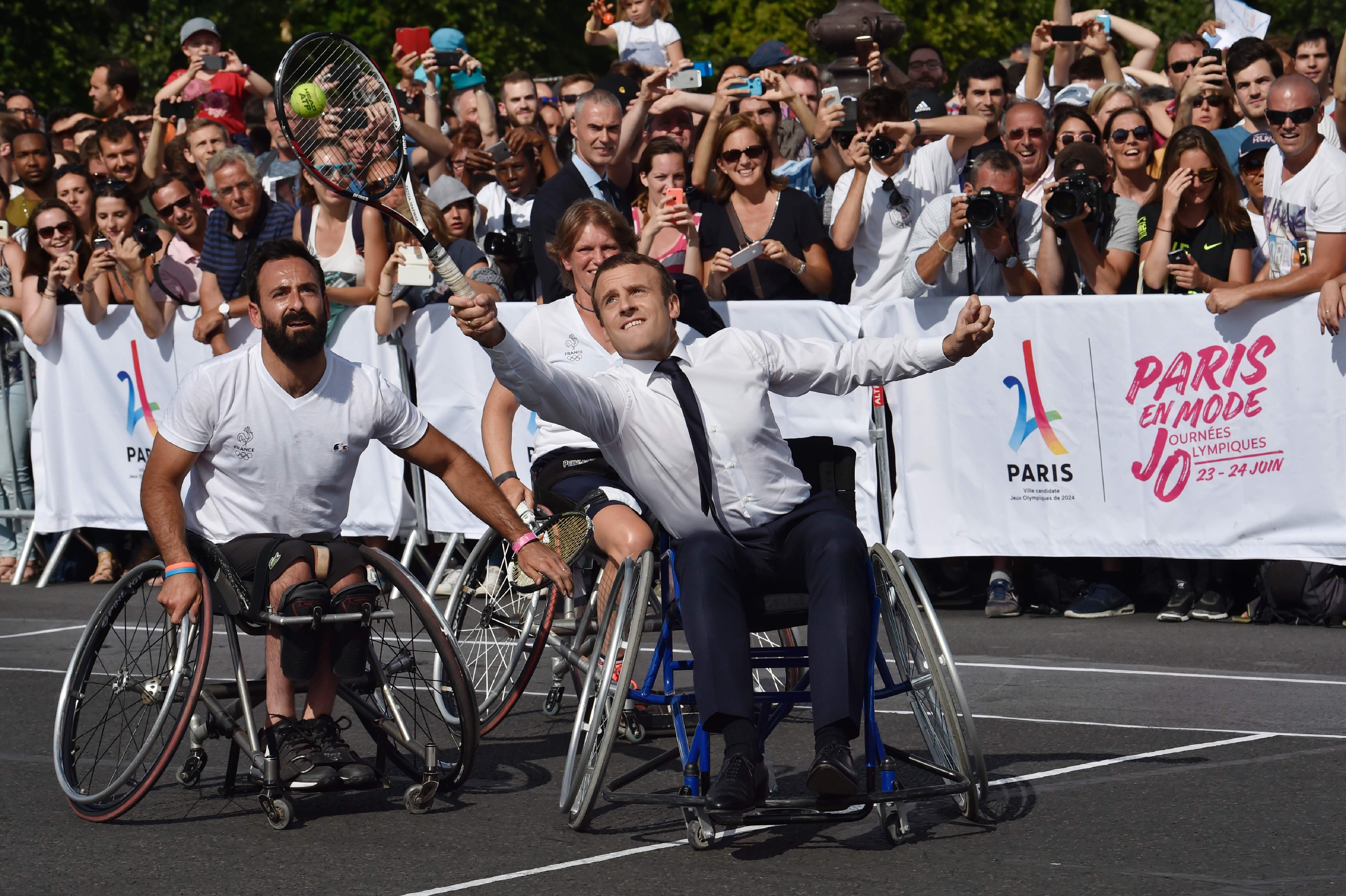 Macron, Federer, Démare, les 10 images fortes du week-end