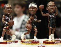 Figurines Miami Heat (Dwyane Wade, LeBron James, Chris Bosh)