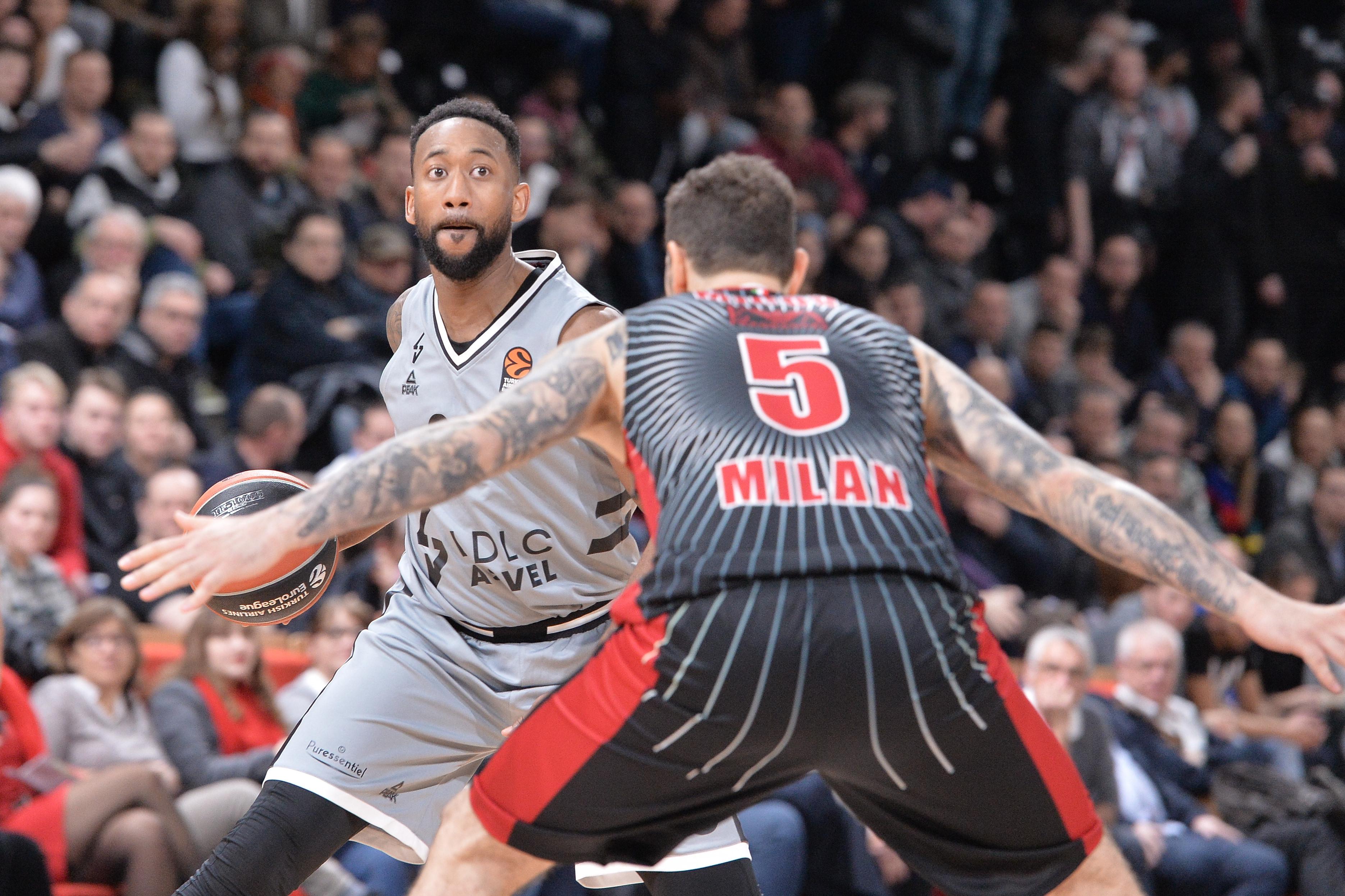 Basket - Coupes d'Europe - L'ASVEL renverse Milan et renoue avec la victoire en Euroligue