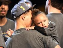 Stephen Curry et sa fille Riley Curry