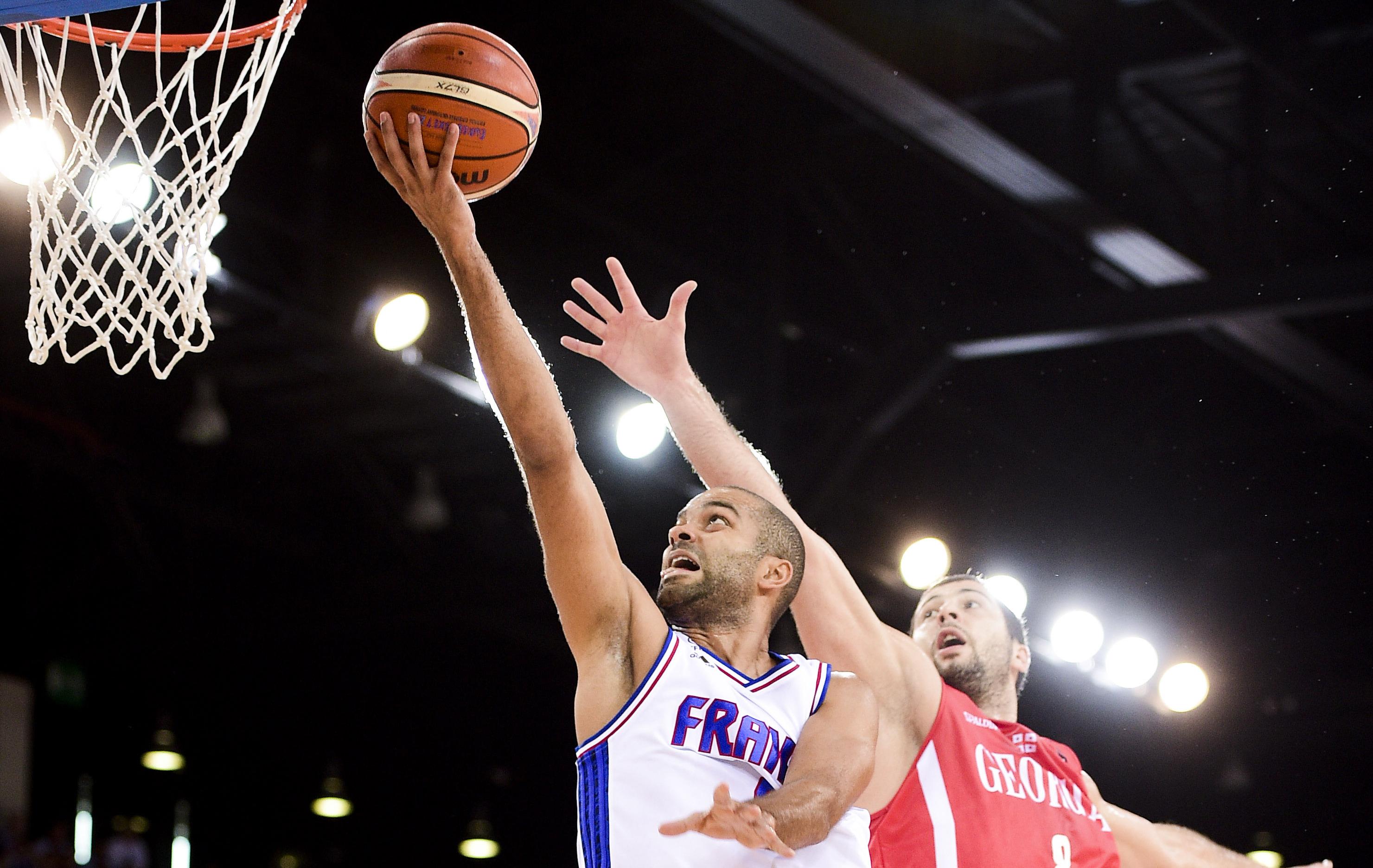 Basket - Equipe de France - La France martyrise la G�orgie