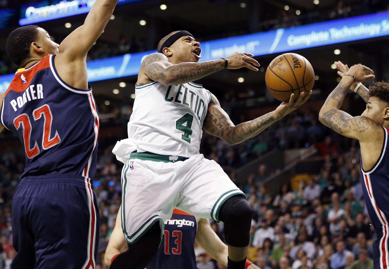 Basket - NBA - Isaiah Thomas et les Celtics débutent bien contre Washigton