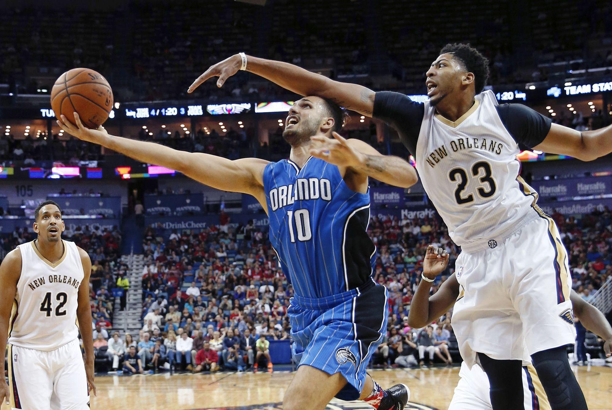 Basket - NBA - Le carton de la soir�e pour Evan Fournier