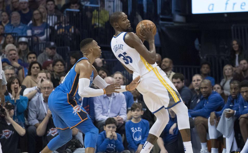 Basket - NBA - NBA : Westbrook terrasse Durant et Golden State, Miami arrête Boston