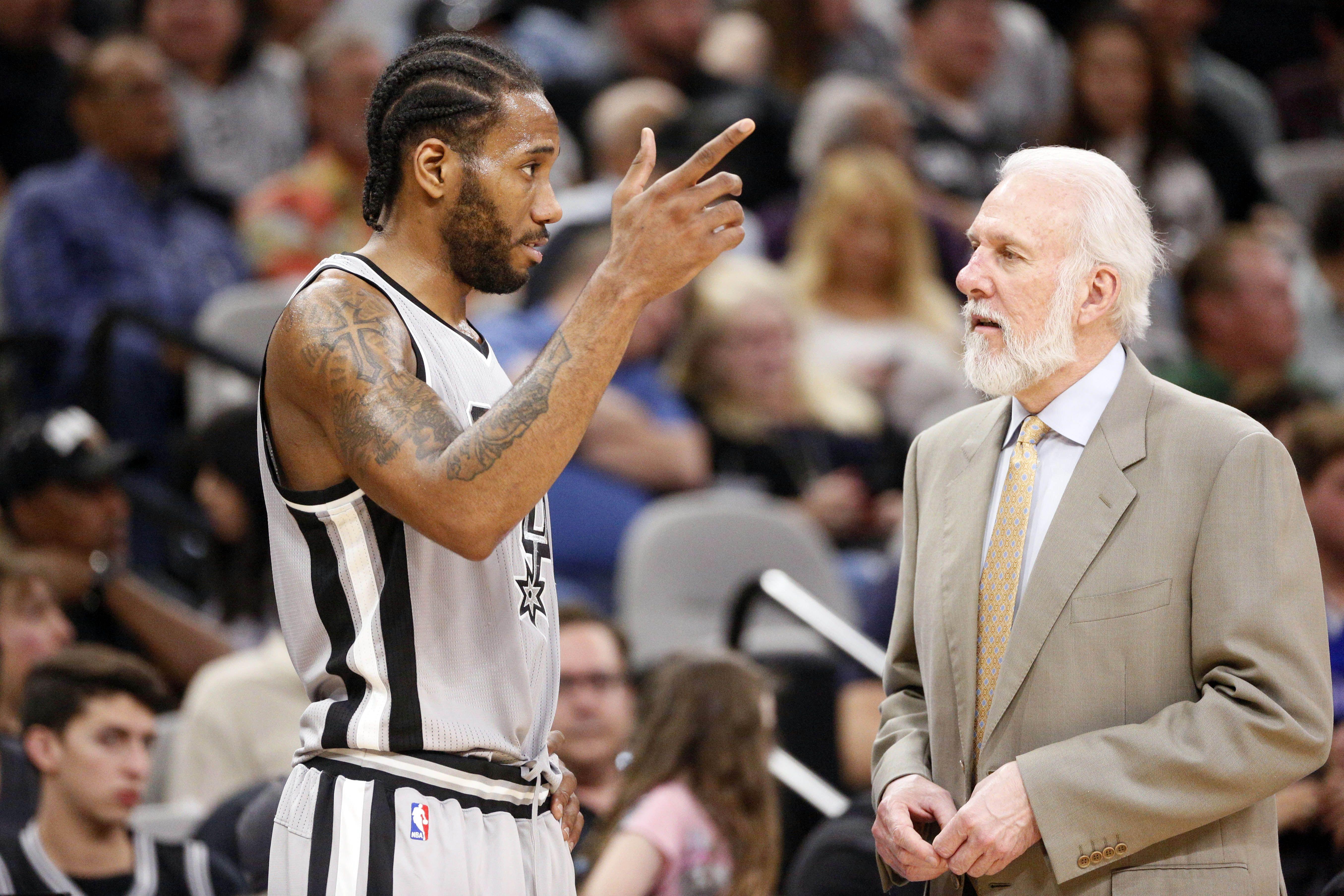 Basket - NBA - San Antonio : Popovich serait «surpris» de voir Leonard rejouer cette saison