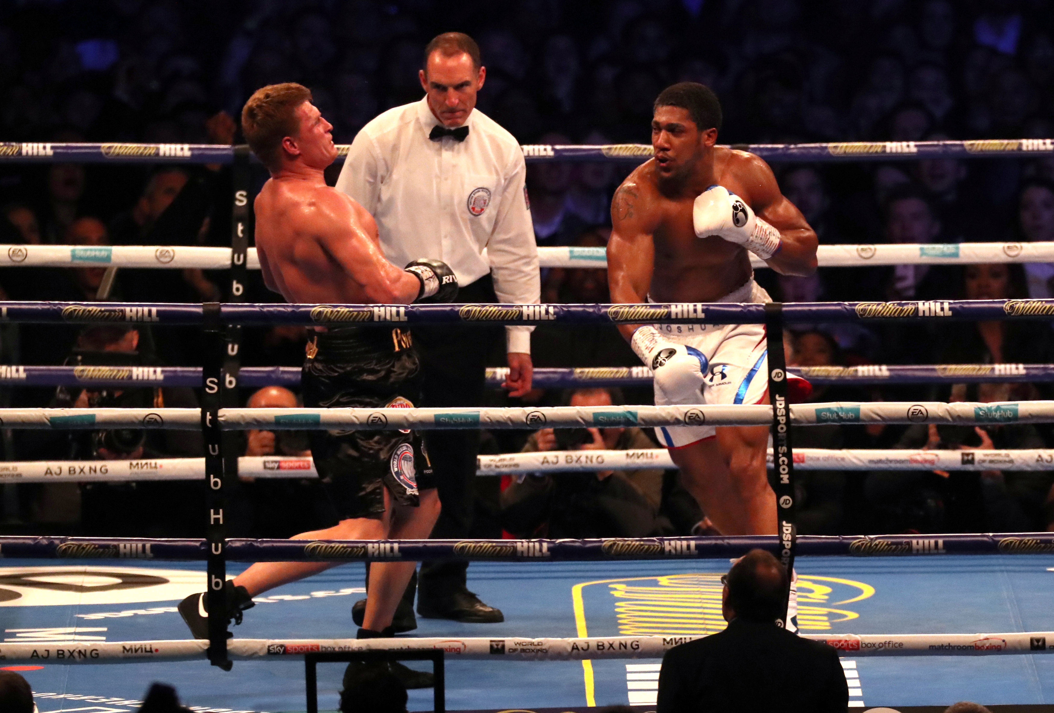 Boxe - Joshua met KO Povetkin au terme d'un combat grandiose