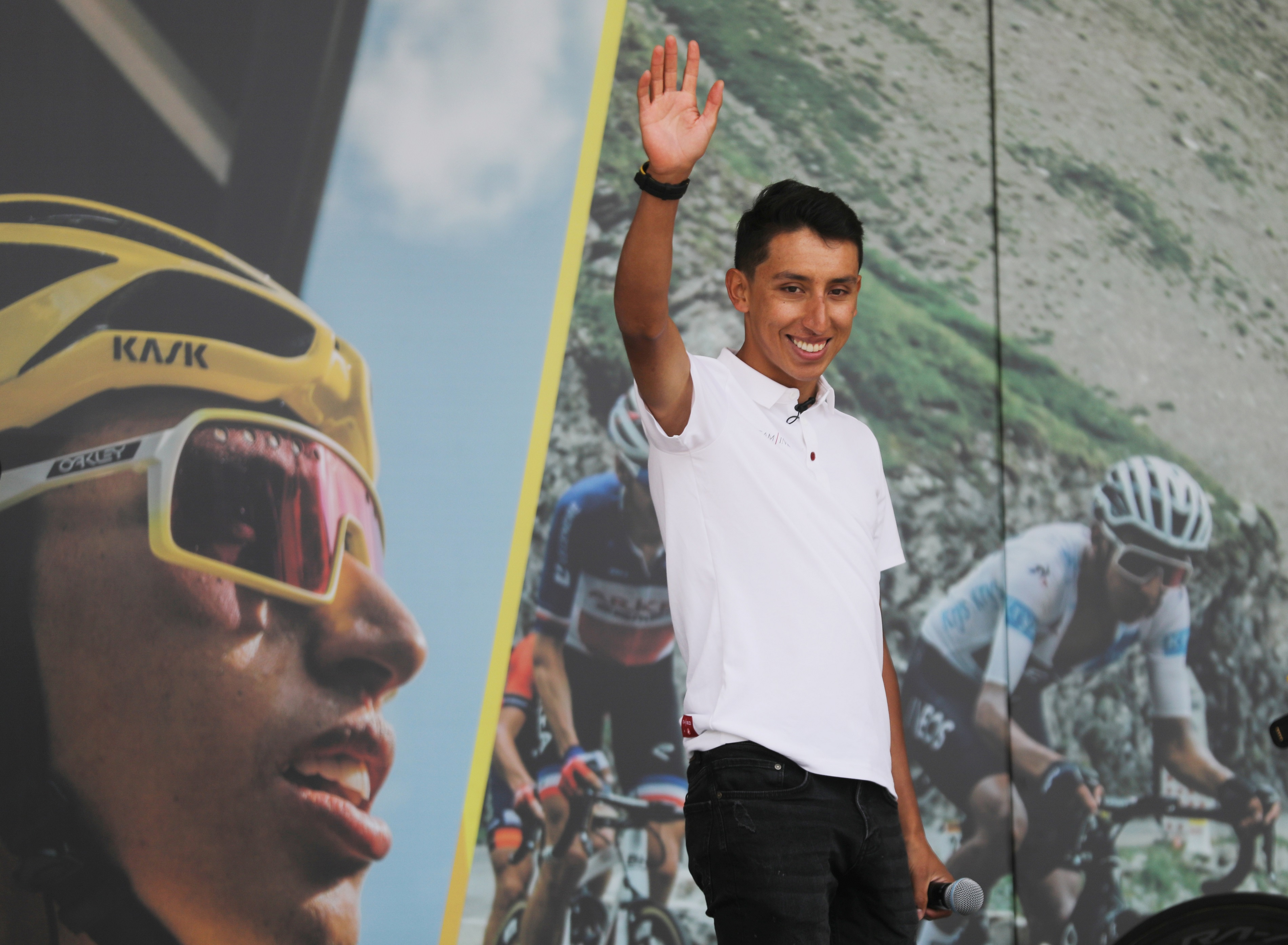 Cyclisme - Après son sacre sur le Tour, Bernal célébré en héros dans son fief de Zipaquira
