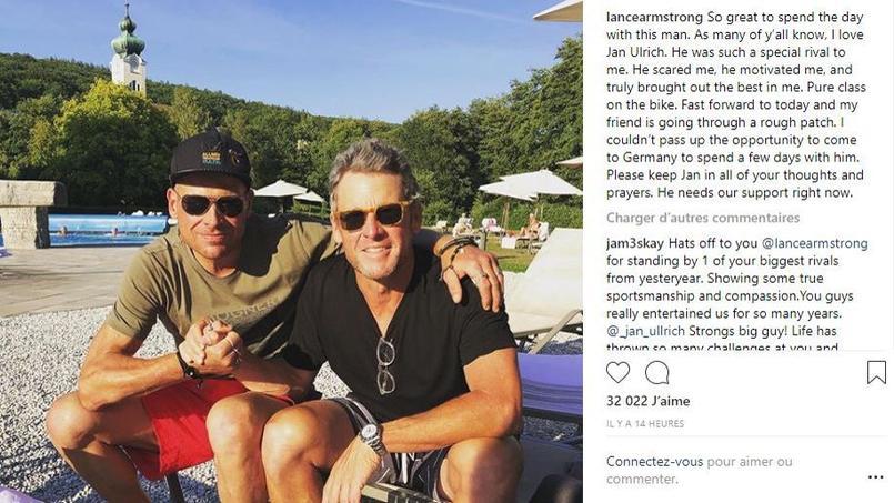 Cyclisme - Lance Armstrong rend visite à «son ami» Jan Ullrich, qui «traverse une période difficile»