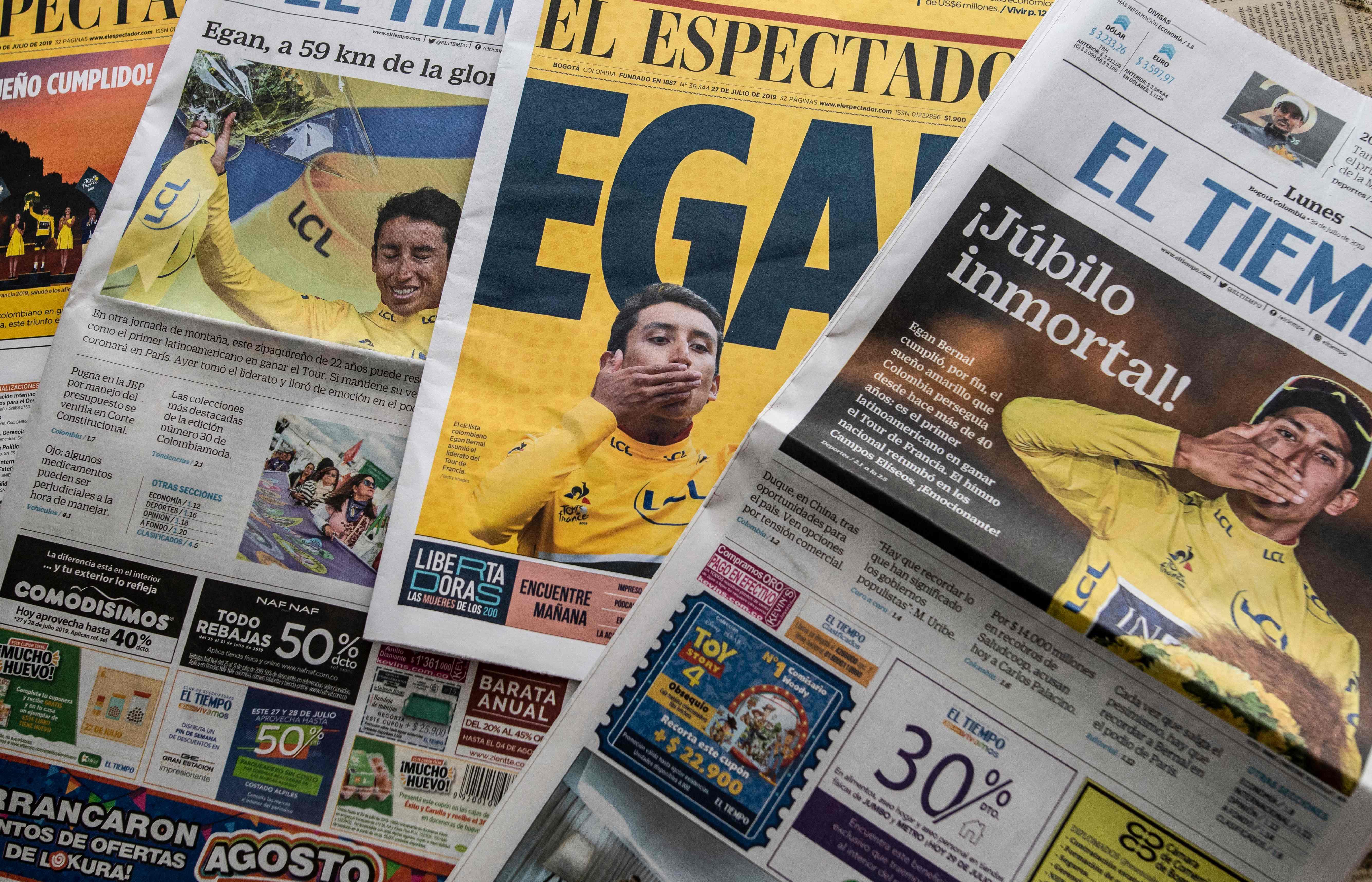 Cyclisme - Tour de France - Bogota et la Colombie en fête aux temps du Maillot jaune