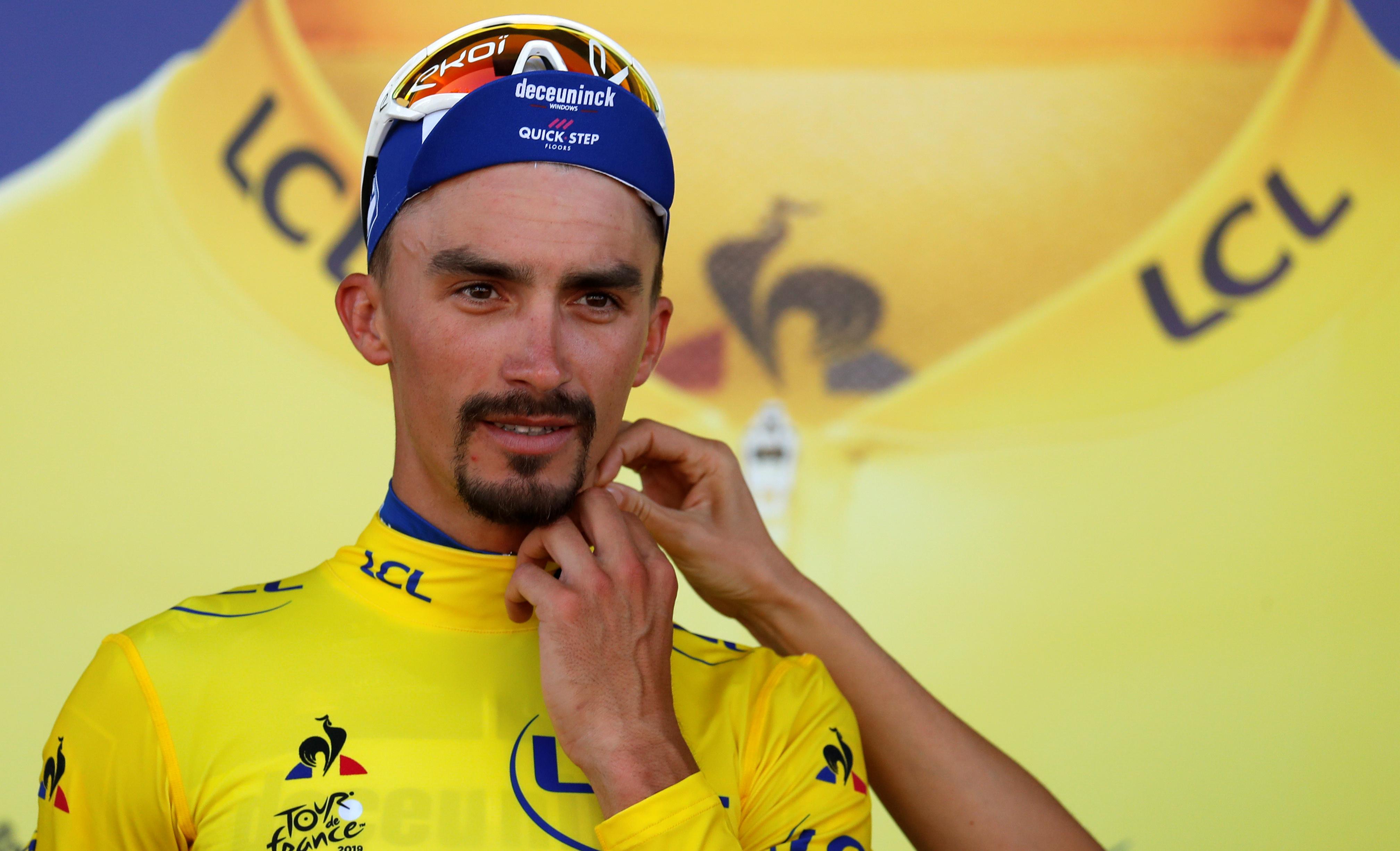 Cyclisme - Tour de France - Julian Alaphilippe, déjà tourné vers La Planche des Belles Filles : «Ça fera mal»