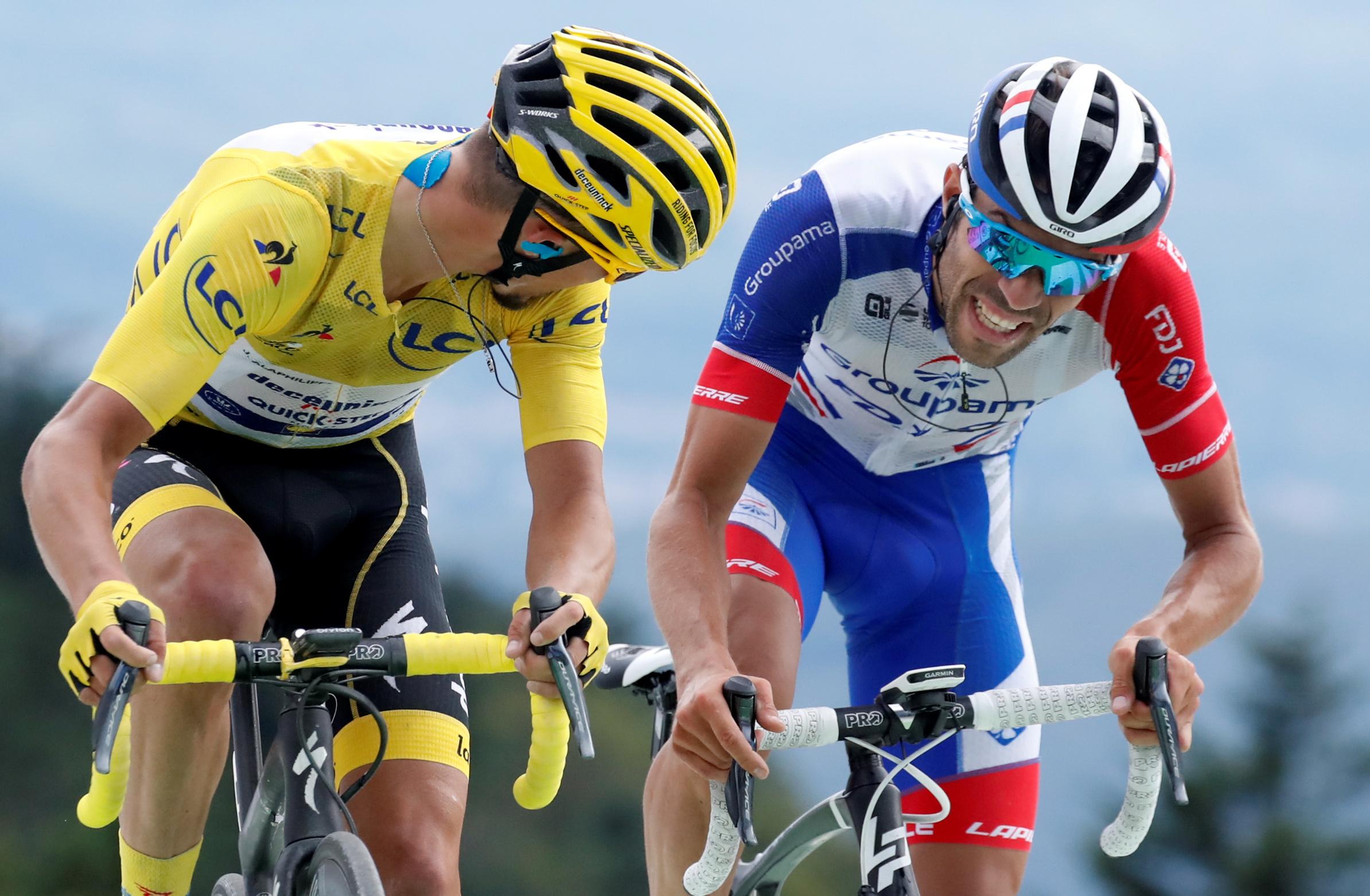 Cyclisme - Tour de France - Pinot, 5e au sommet de La Planche des Belles Filles : «Je suis avec les meilleurs»
