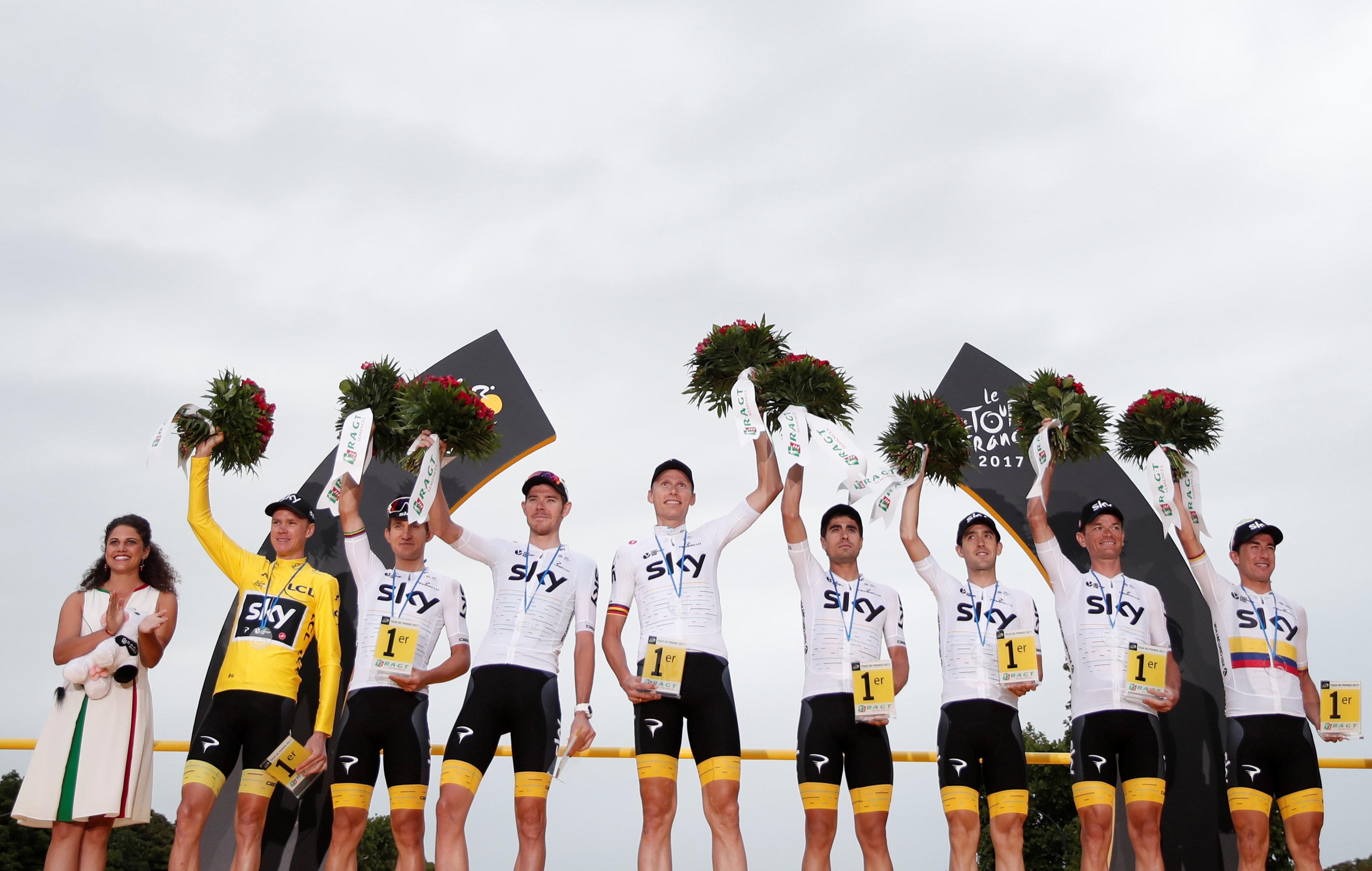 Cyclisme - Tour de France - Tour de France : l'équipe Sky empoche plus de 700.000 euros de gains