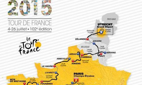 carte tour de france 2015 parcours