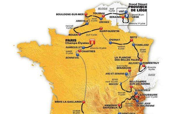 Parcours Tour de France 2012