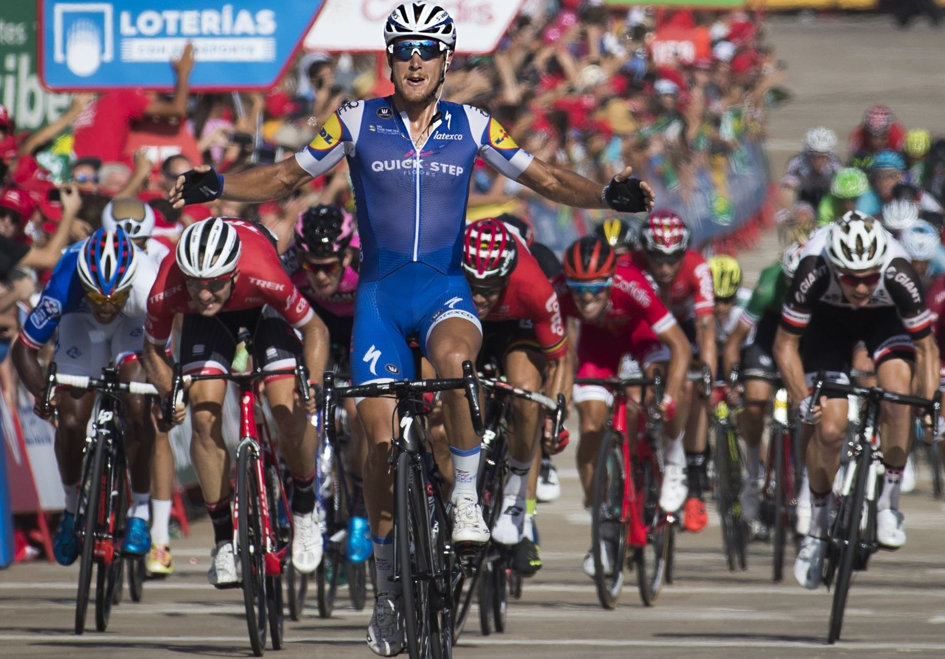 Cyclisme - Vuelta - Vuelta : Trentin gagne au sprint, Froome leader serein