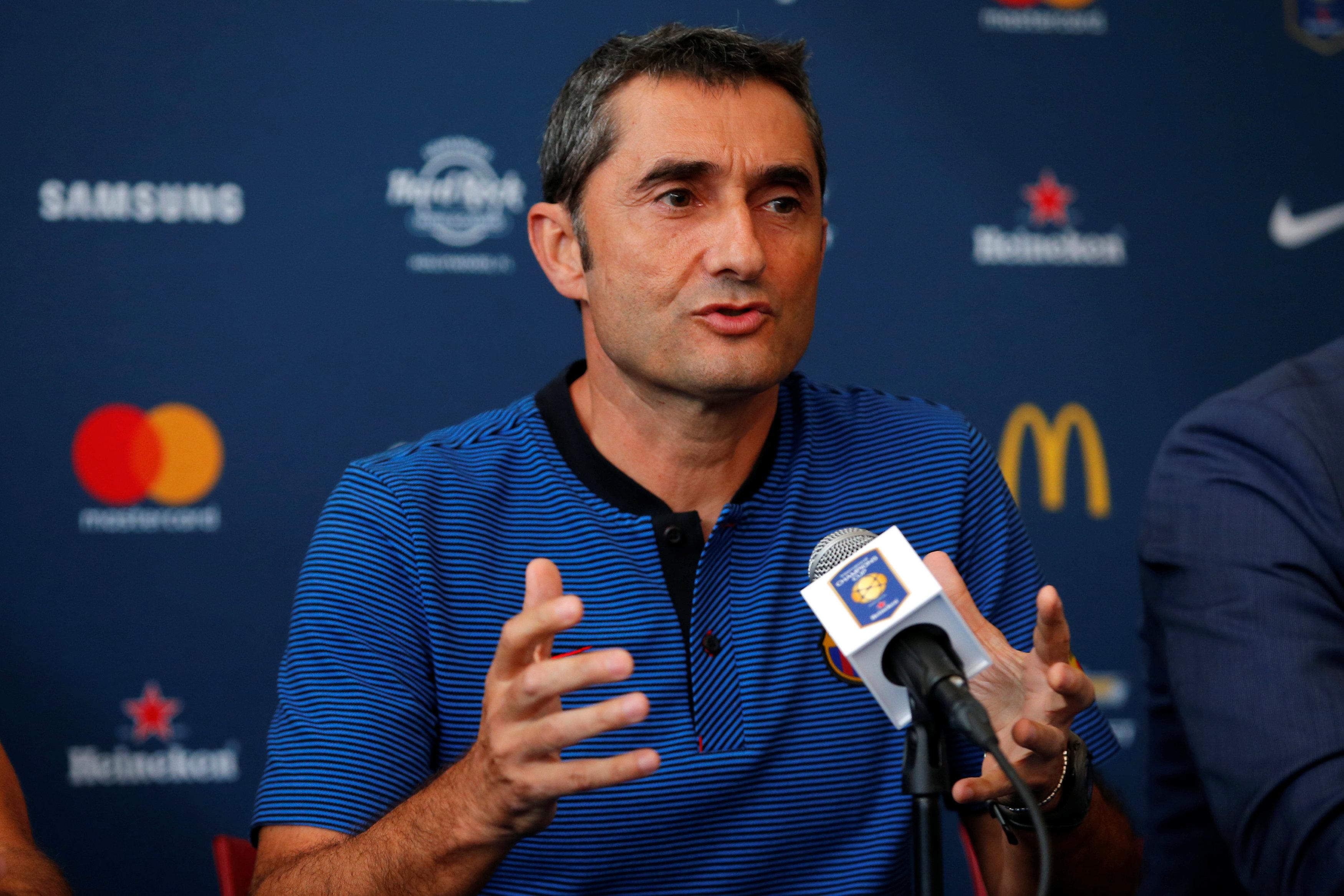 Football - Pour Valverde, l'entraîneur du Barça, «Neymar restera»