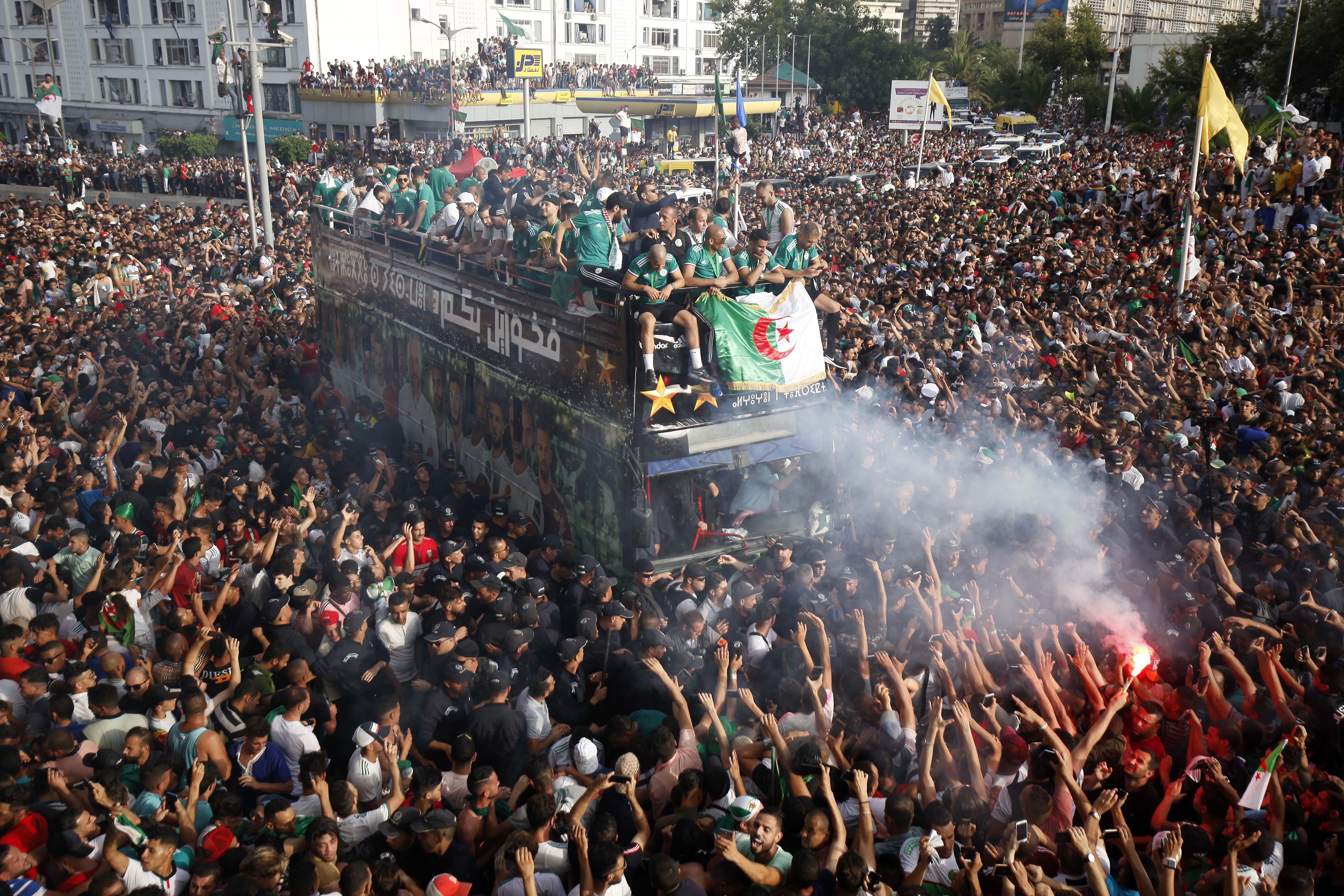 Football - CAN - CAN 2019 : Alger a fêté ses champions d'Afrique
