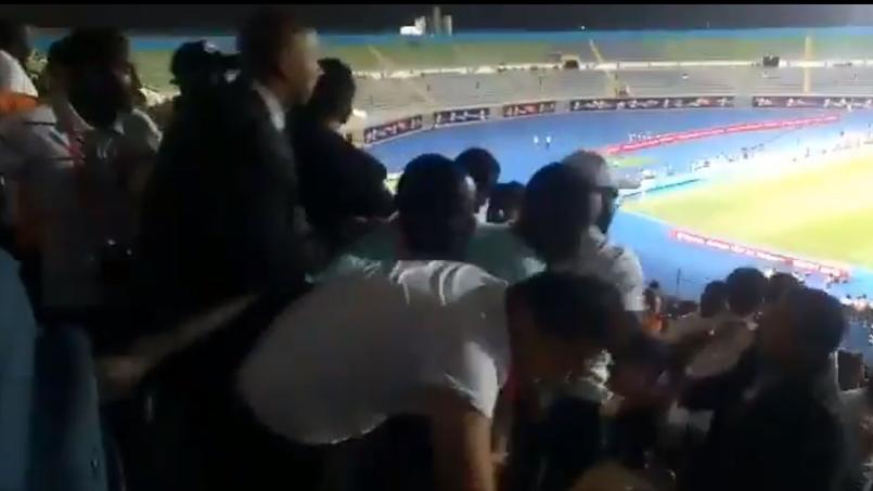 Football - CAN - CAN 2019: une bagarre en tribune de presse pendant Sénégal-Tunisie