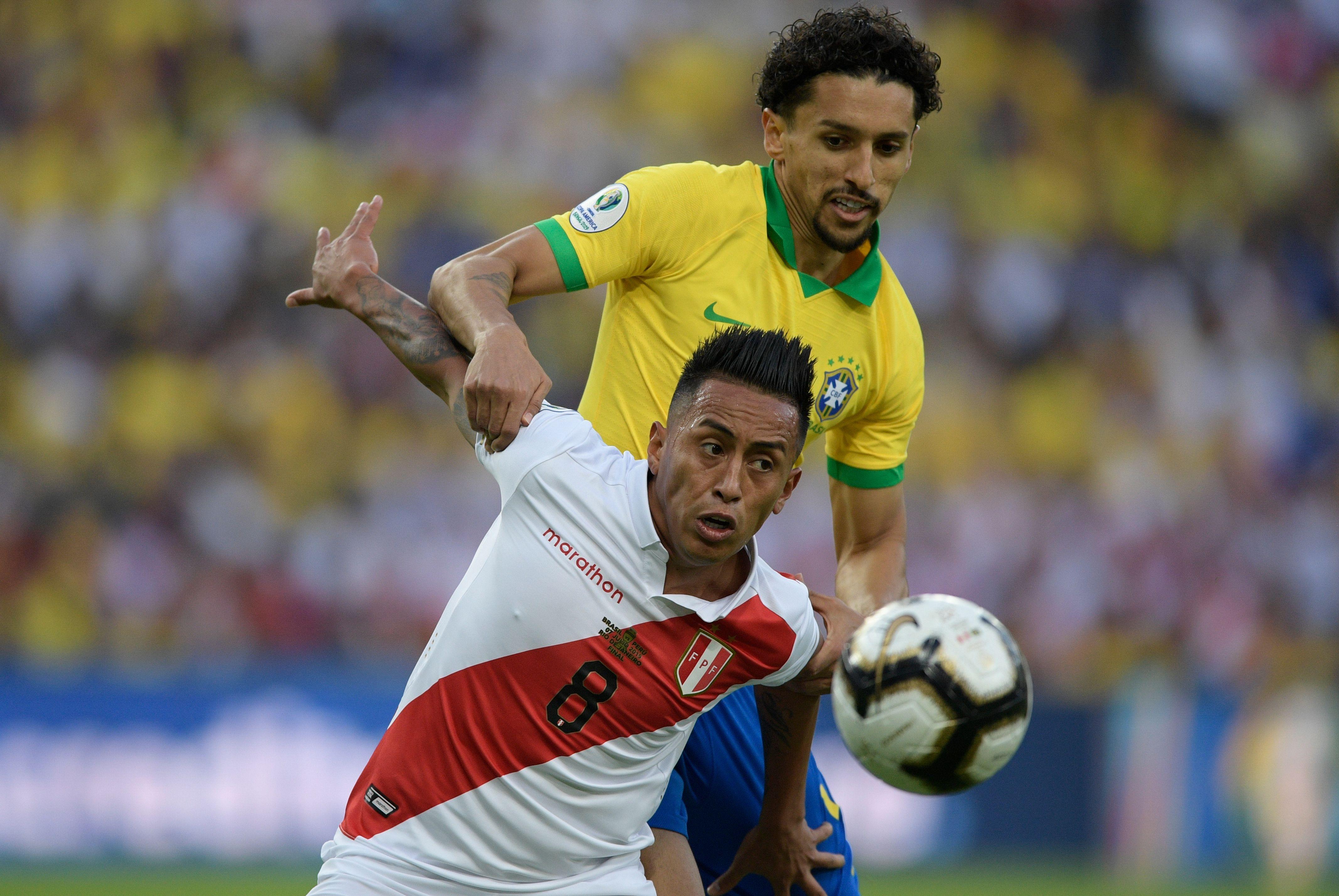 Football - Copa America - Copa America: Marquinhos nie avoir snobé le président brésilien Bolsonaro