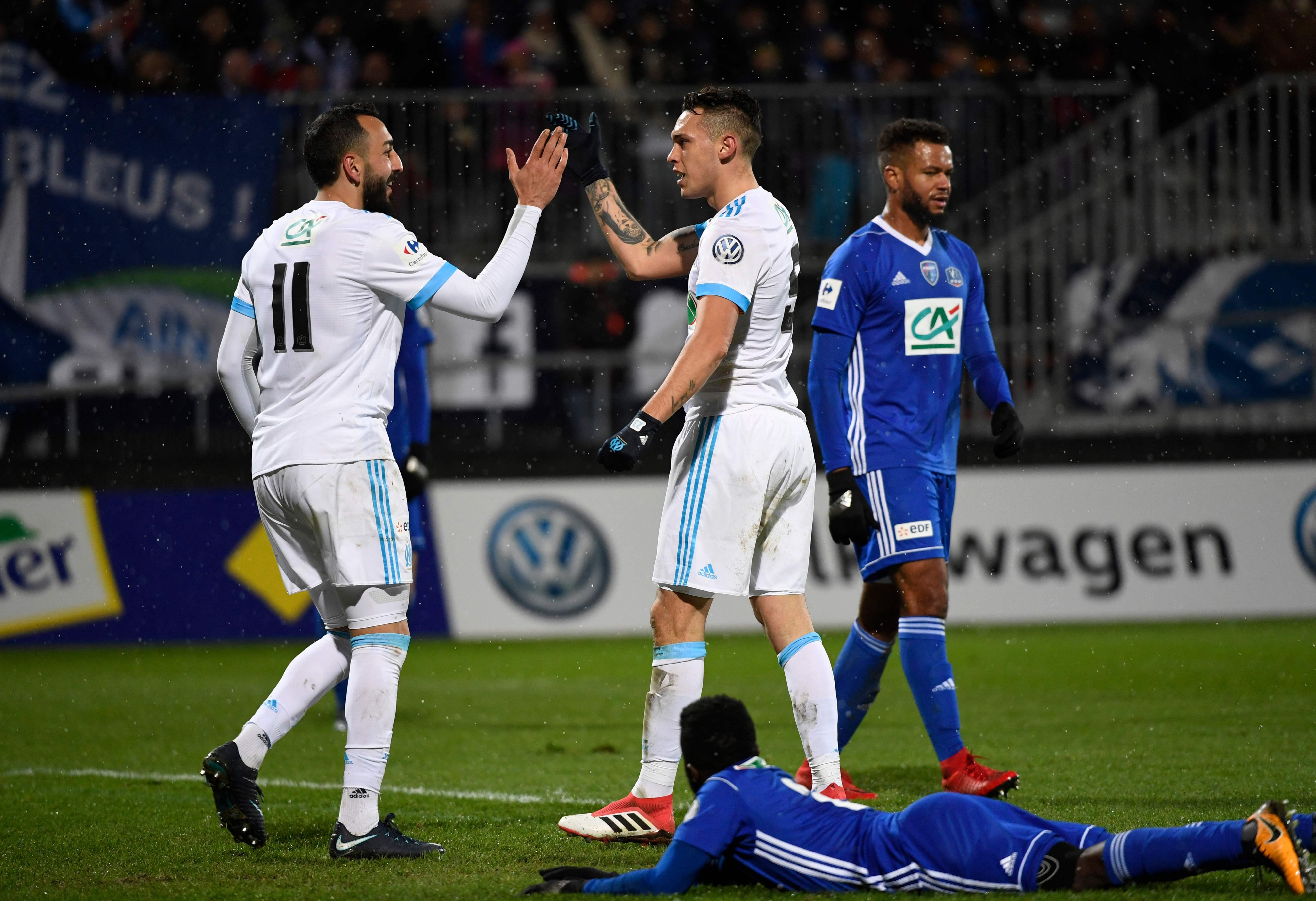 0 9 tripl de mitroglou et ocampos l 39 om a r gal coupe de france football - Football coupe de france ...
