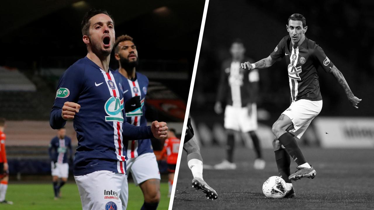 Football - Coupe de France - Tops/Flops Lorient-PSG : Sarabia plus qu'un joker, Di Maria passe à côté