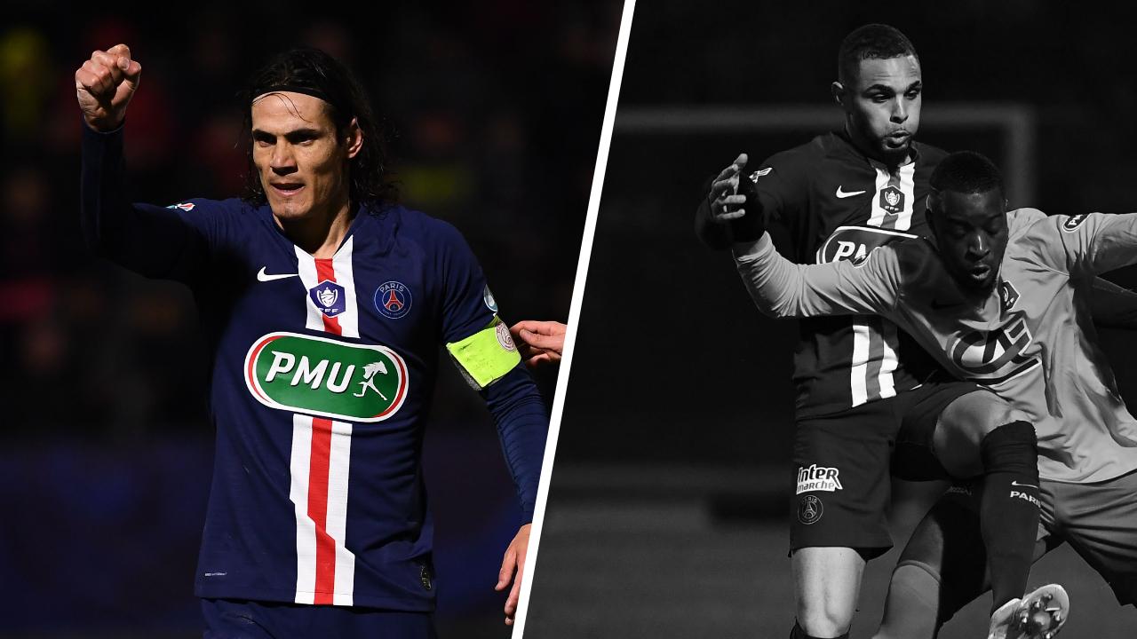 Football - Coupe de France - Tops/Flops Montlhéry-PSG : Cavani de nouveau inspiré, Kurzawa un ton en-dessous