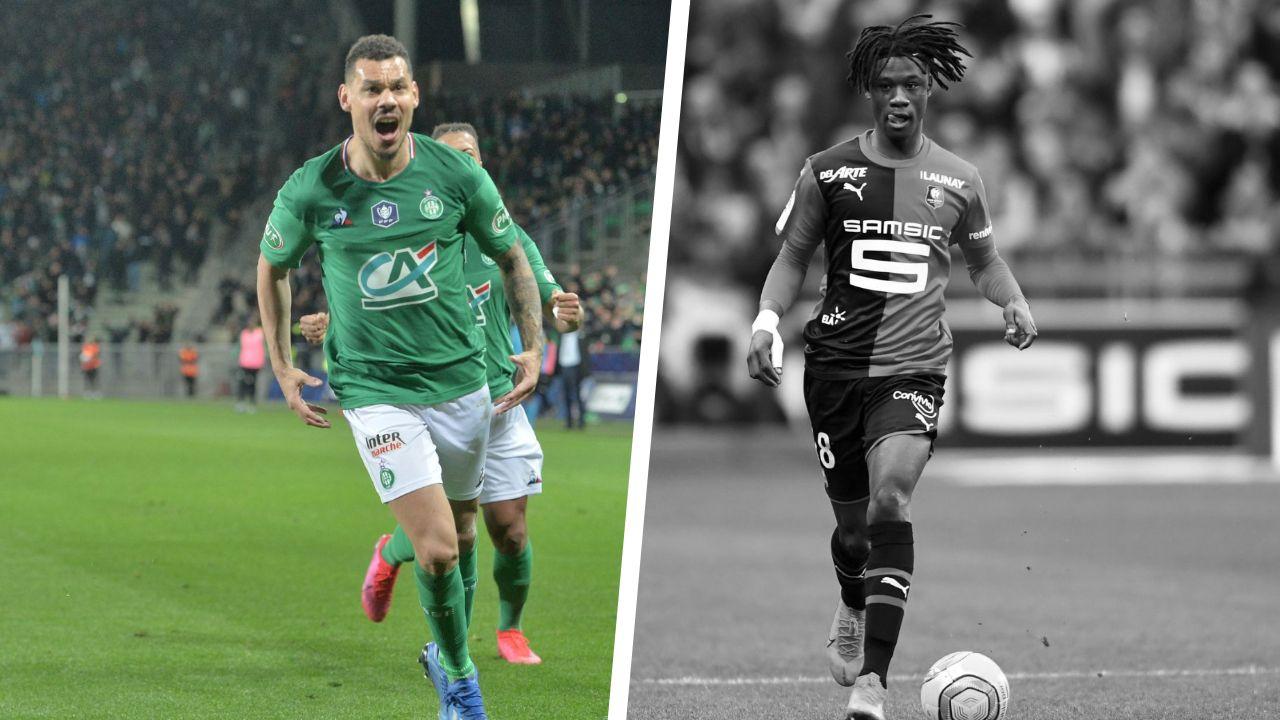 Football - Coupe de France - Tops/flops Saint-Etienne - Rennes : Le sursaut de Kolodziejczak, Camavinga dans un mauvais soir