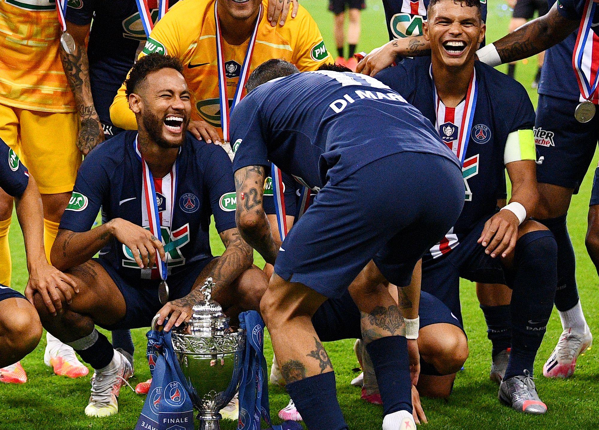 Football - Coupe de la Ligue - L'appétit de Neymar avant PSG-OL et la C1 : «Quatre finales à jouer»