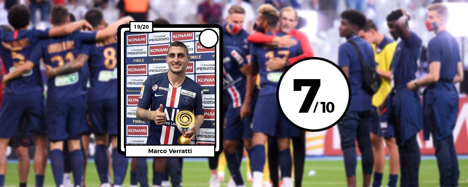 Football - Coupe de la Ligue - Les notes de PSG-OL : Verratti étincelant, Lopes infranchissable