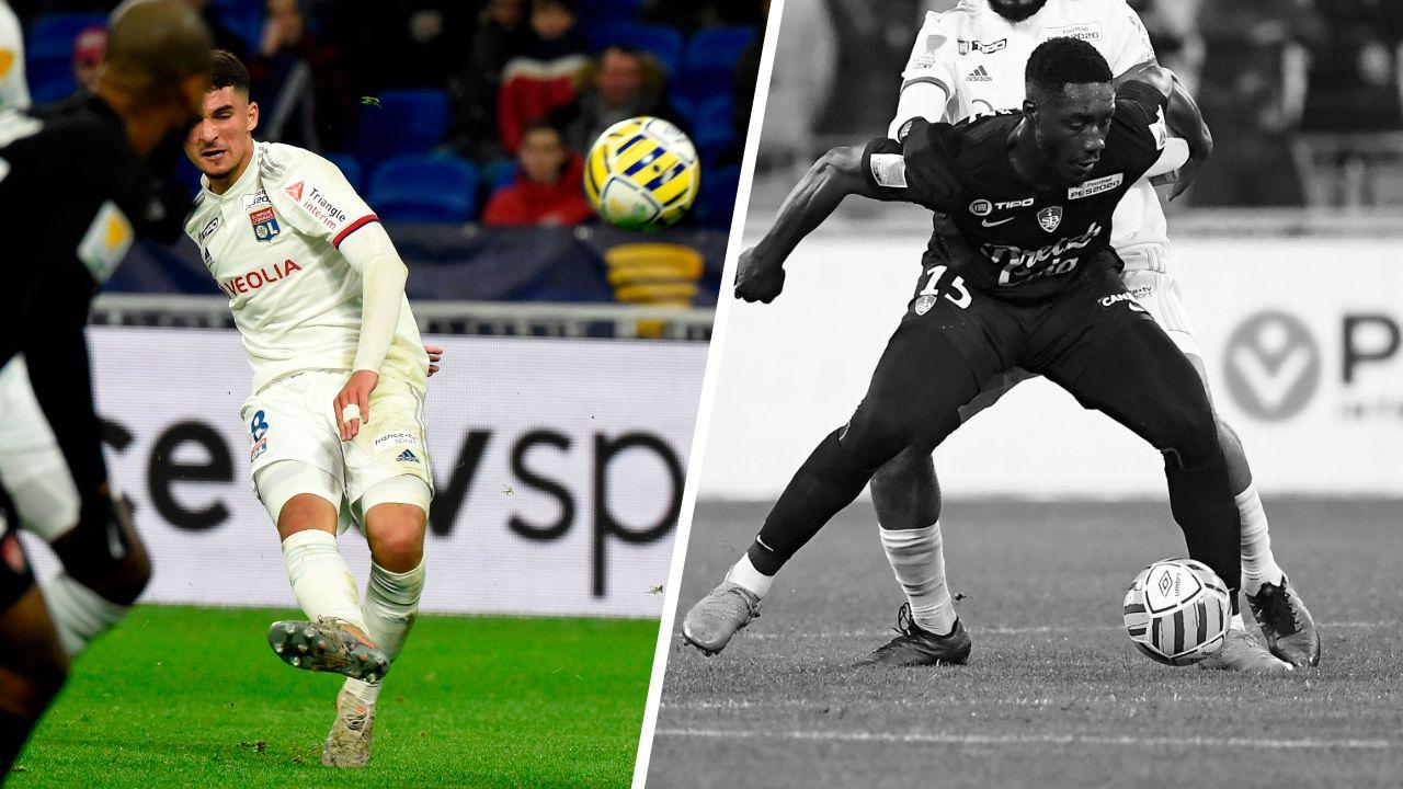 Football - Coupe de la Ligue - Tops/Flops Lyon-Brest : Aouar rayonnant, des Bretons timorés