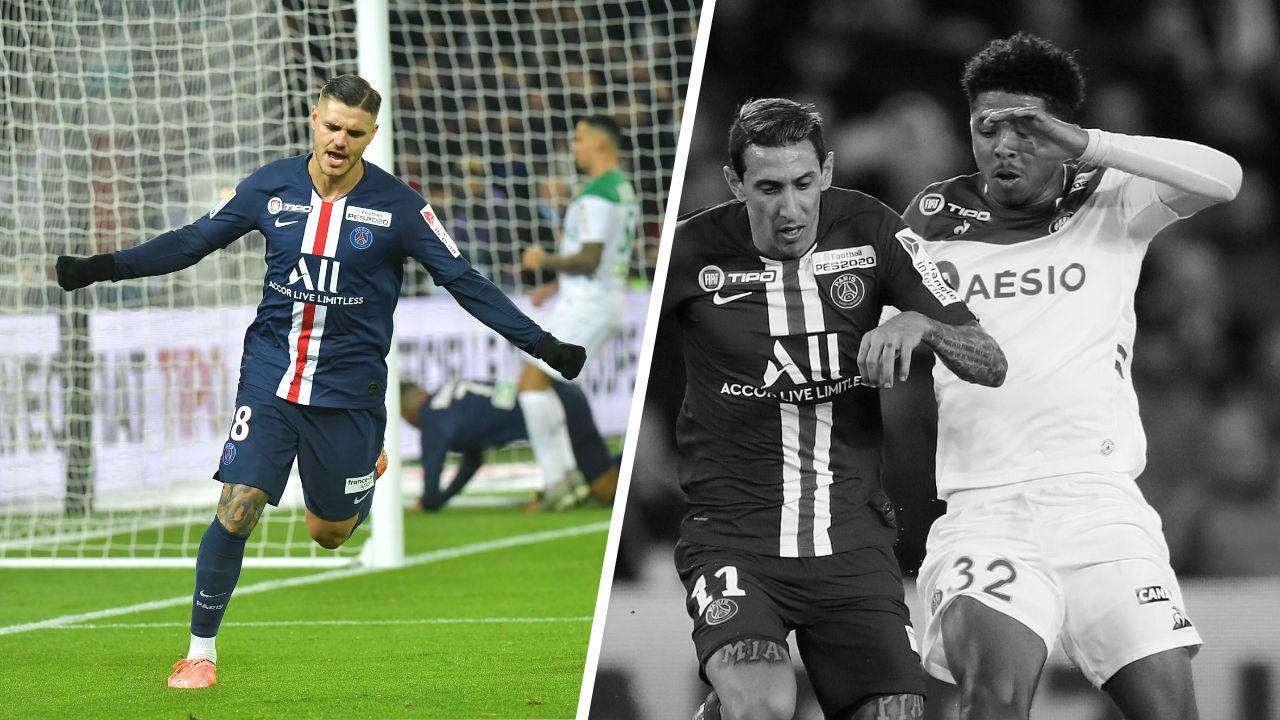Football - Coupe de la Ligue - Tops/flops PSG-Saint-Etienne : Icardi diabolique, Fofana et les Verts catastrophiques