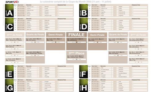 T l charger le calendrier du mondial coupe du monde 2010 - Calendrier coupe du monde de handball ...